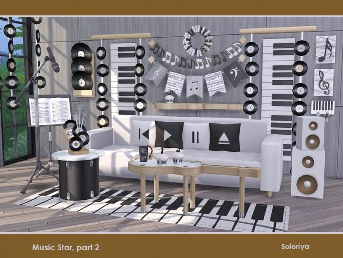 Music Star Set part 2 by soloriya at TSR image 745 670x503 Sims 4 Updates