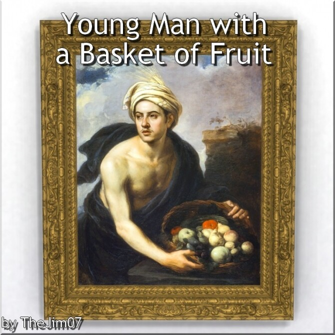 Sims 4 Young Man with a Basket of Fruit by TheJim07 at Mod The Sims