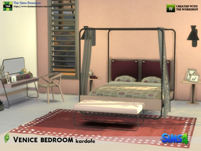 Sims 4 Venice bedroom by kardofe at TSR