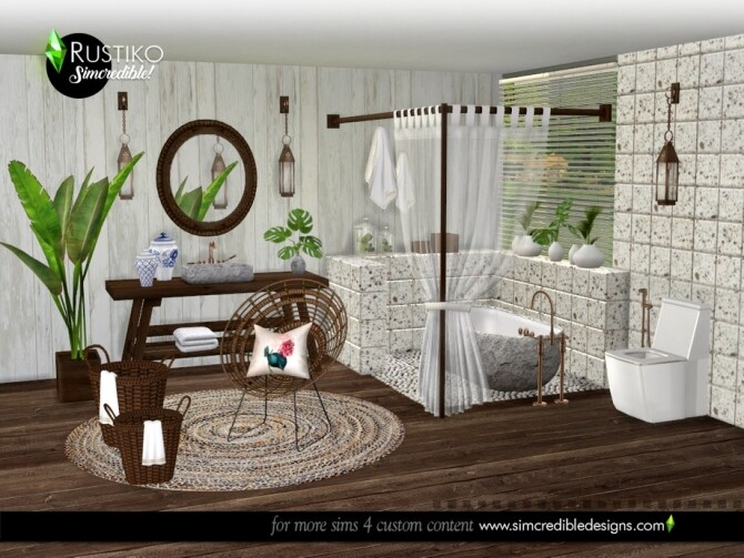 Rustiko Decor by SIMcredible at TSR image 7519 670x503 Sims 4 Updates