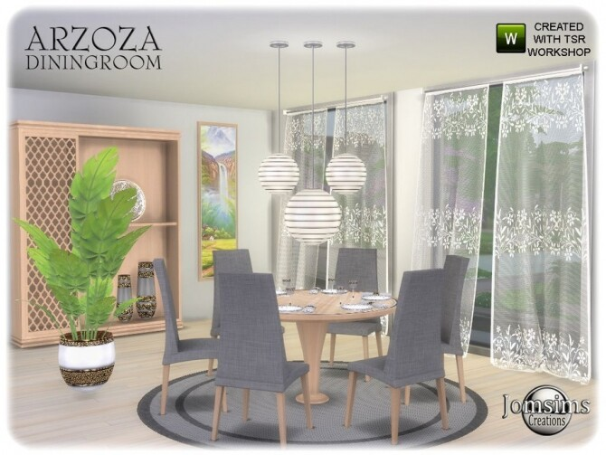 Arzoza diningroom by  jomsims at TSR image 7520 670x503 Sims 4 Updates
