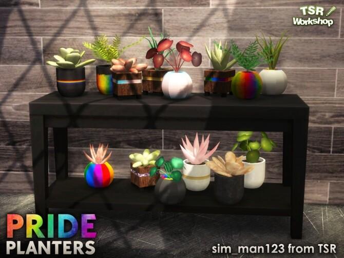 Sims 4 Pride Planters 2020 by sim man123 at TSR