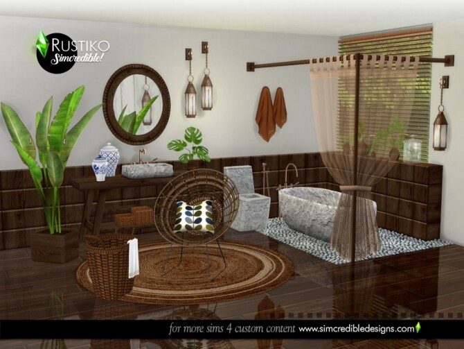 Rustiko Decor by SIMcredible at TSR image 7618 670x503 Sims 4 Updates