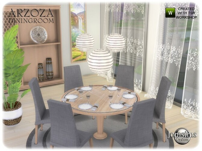 Arzoza diningroom by  jomsims at TSR image 7619 670x503 Sims 4 Updates