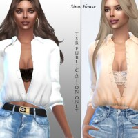 Women long sleeve unbuttoned shirt by Sims House