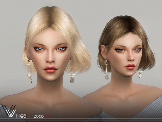 Sims 4 WINGS TZ0618 hair by wingssims at TSR
