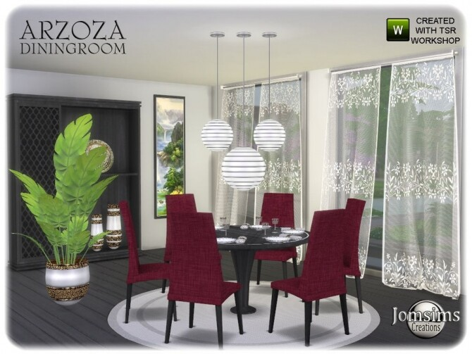 Arzoza diningroom by  jomsims at TSR image 7720 670x503 Sims 4 Updates