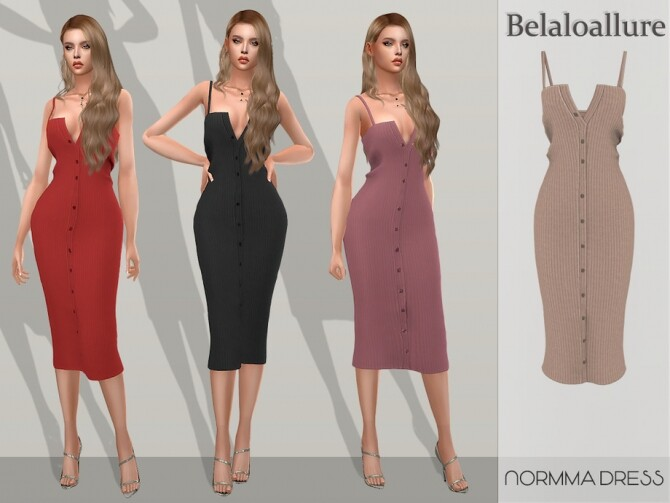 Sims 4 Normma dress by belal1997 at TSR