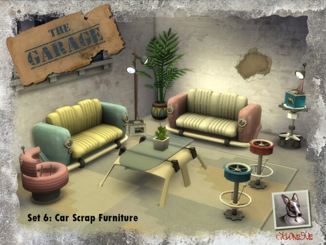 The Garage Set 6: Car Scrap Furniture by Cyclonesue at TSR image 7722 670x503 Sims 4 Updates