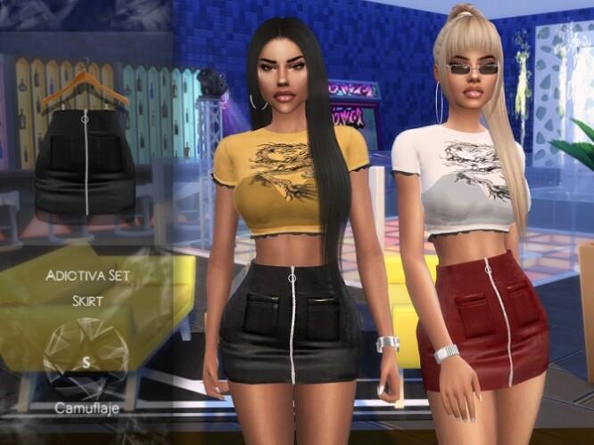 Adictiva Set Skirt by Camuflaje