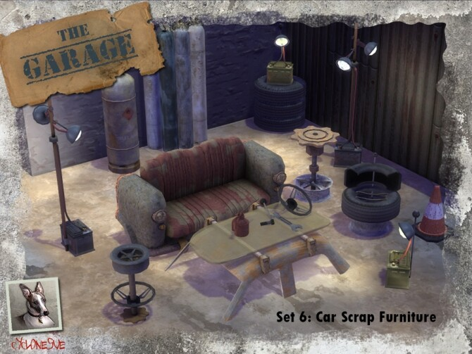 The Garage Set 6: Car Scrap Furniture by Cyclonesue at TSR image 7820 670x503 Sims 4 Updates