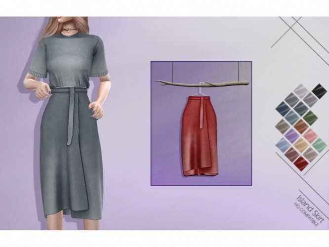 LMCS Island Skirt by Lisaminicatsims