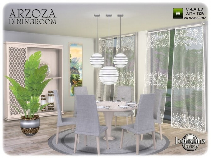 Arzoza diningroom by  jomsims at TSR image 7921 670x503 Sims 4 Updates