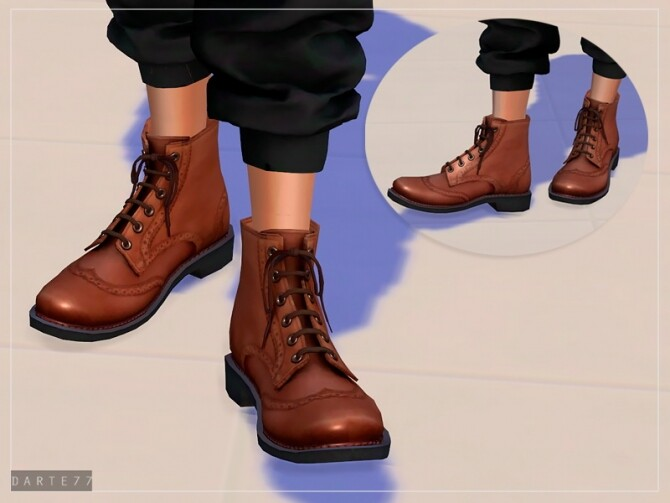 Sims 4 Brogue Boots For Females by Darte77 at TSR