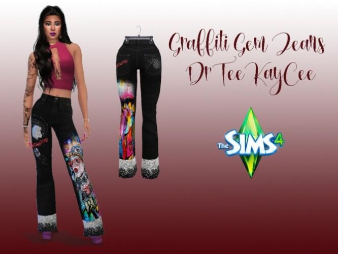 Graffiti Gems Jeans by drteekaycee