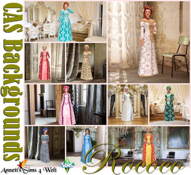 Rococo CAS Backgrounds at Annett's Sims 4 Welt image 80 Sims 4 Updates