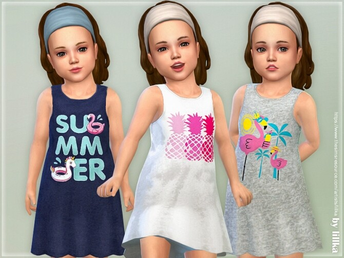 Sims 4 Toddler Dresses Collection P145 by lillka at TSR