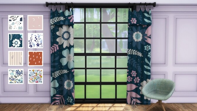 Sims 4 Curtains 02 at Celinaccsims