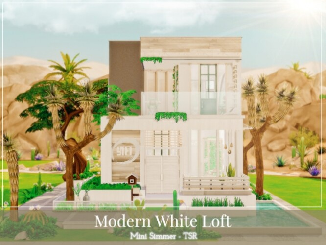 Modern White Loft by Mini Simmer