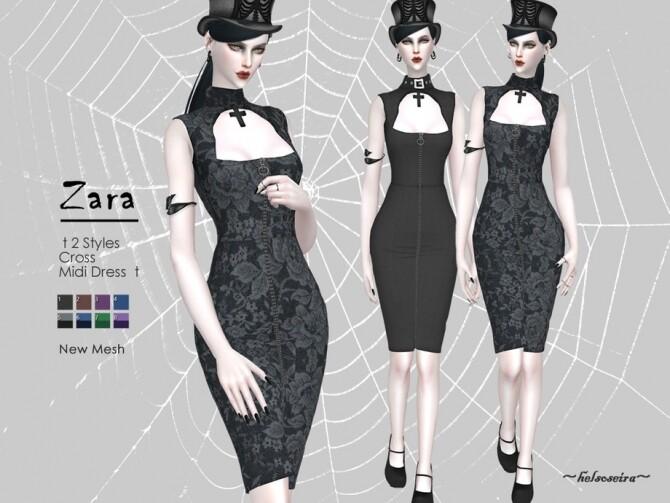 Sims 4 Midi Dress by Helsoseira at TSR