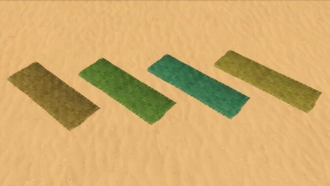 Braided Palm Leaf Yoga Mat by Serinion