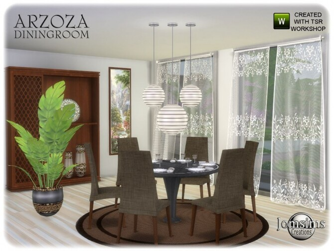 Arzoza diningroom by  jomsims at TSR image 8125 670x503 Sims 4 Updates