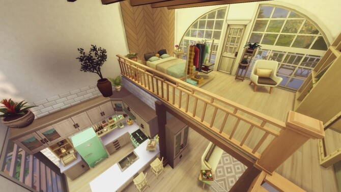 Sims 4 A Frame Single home NO CC by zhepomme at Mod The Sims