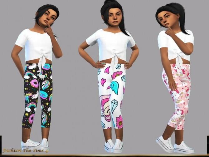 Sims 4 Samanta Sport Child outfit by LYLLYAN at TSR