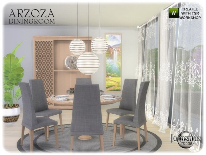 Arzoza diningroom by  jomsims at TSR image 8223 670x503 Sims 4 Updates