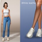 White leather sneakers by Jius