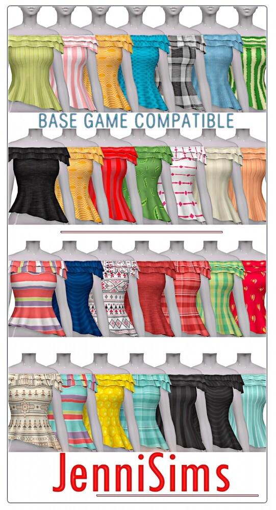 TOP BASE GAME COMPATIBLE at Jenni Sims image 832 541x1000 Sims 4 Updates