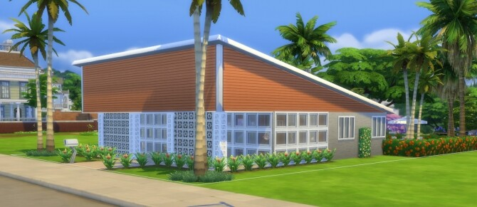 The Sun Valley Mid Century Modern Home by DominoPunkyHeart at Mod The Sims image 835 670x291 Sims 4 Updates