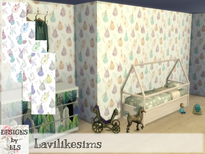 Sims 4 Happy Pear wallpaper by lavilikesims at TSR