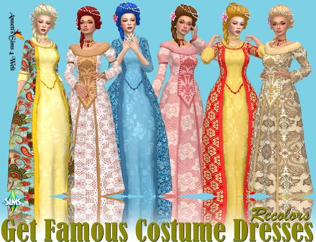 Get Famous Costume Dresses Recolors