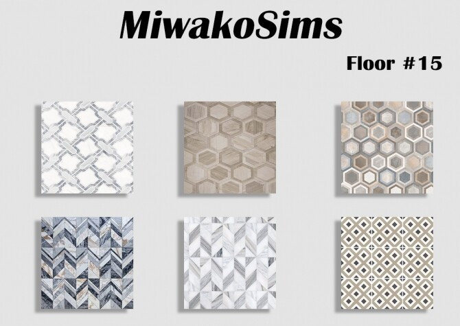 Sims 4 Collection #15 floor at MiwakoSims