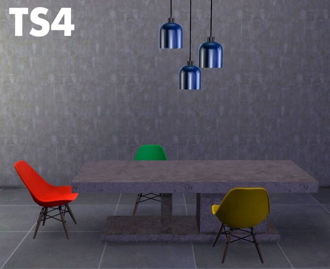 Sims 4 Marble table, chair and lamp recolors at Riekus13