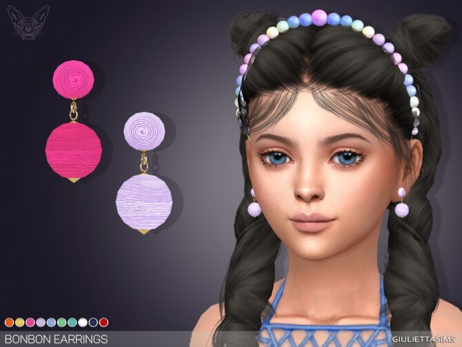 Bonbon Earrings For Kids by feyona at TSR image 8514 670x503 Sims 4 Updates