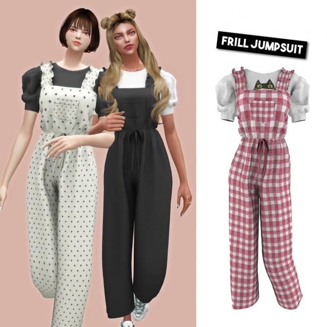 Frill jumpsuit at L.Sim image 852 670x670 Sims 4 Updates