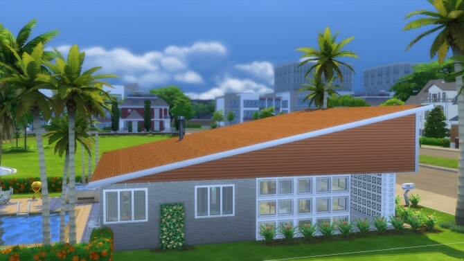 The Sun Valley Mid Century Modern Home by DominoPunkyHeart at Mod The Sims image 855 670x377 Sims 4 Updates