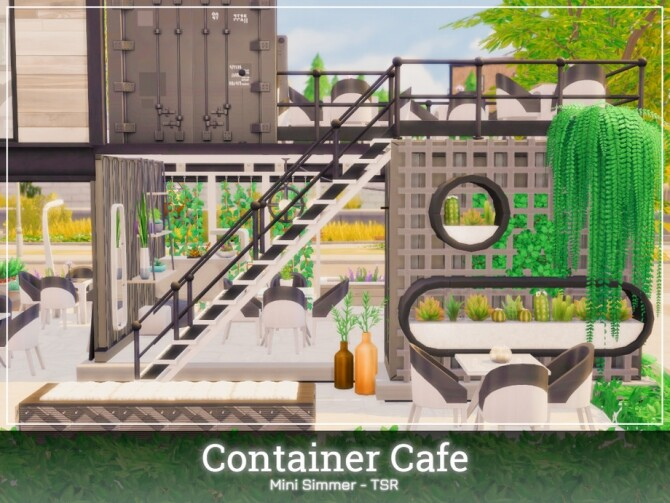 Sims 4 Container Cafe by Mini Simmer at TSR