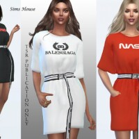 Dress t-shirt by Sims House