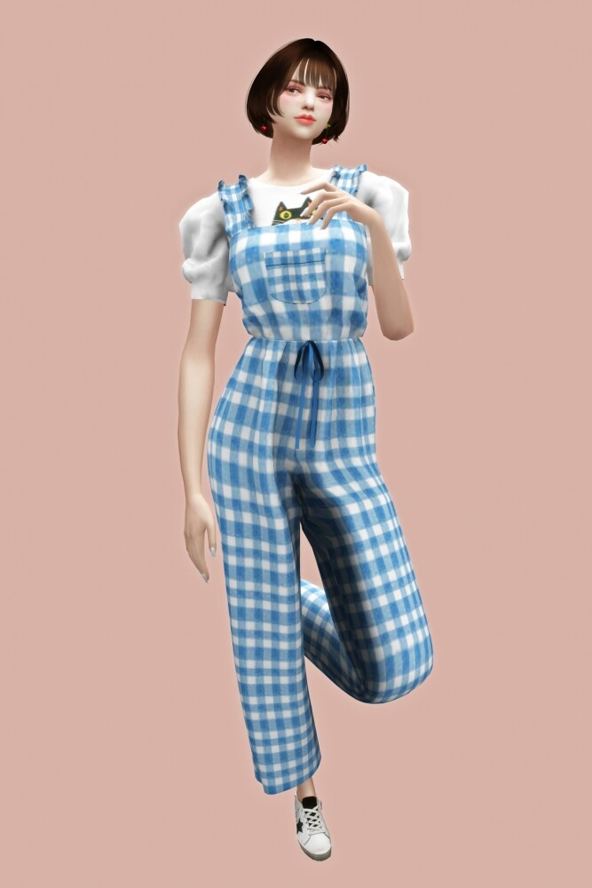 Frill jumpsuit at L.Sim image 862 667x1000 Sims 4 Updates