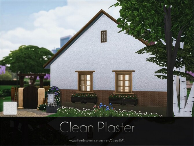 Sims 4 Clean Plaster by Caroll91 at TSR