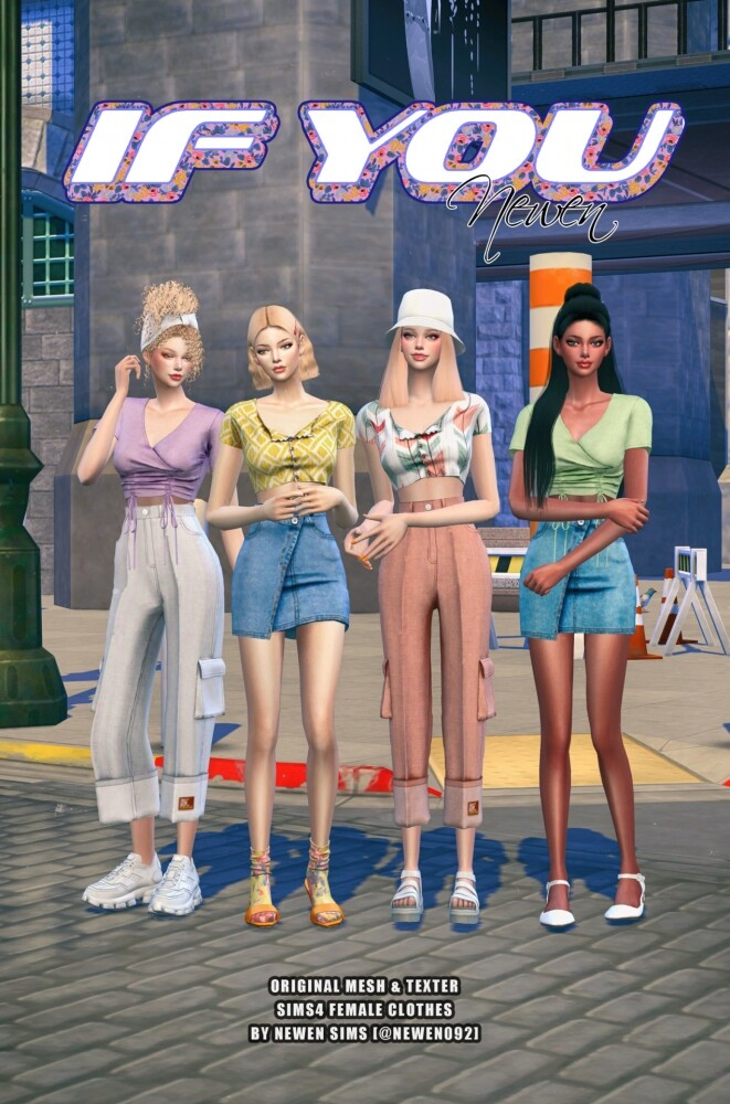 If You clothes set at NEWEN image 882 661x1000 Sims 4 Updates