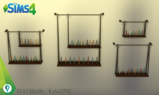 Sims 4 ECO Living Shelves at Simmetje Sims