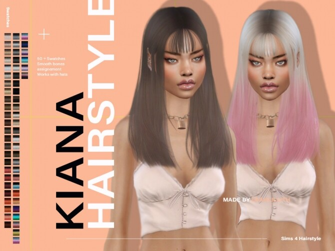 Sims 4 Kiana Hairstyle by Leah Lillith at TSR