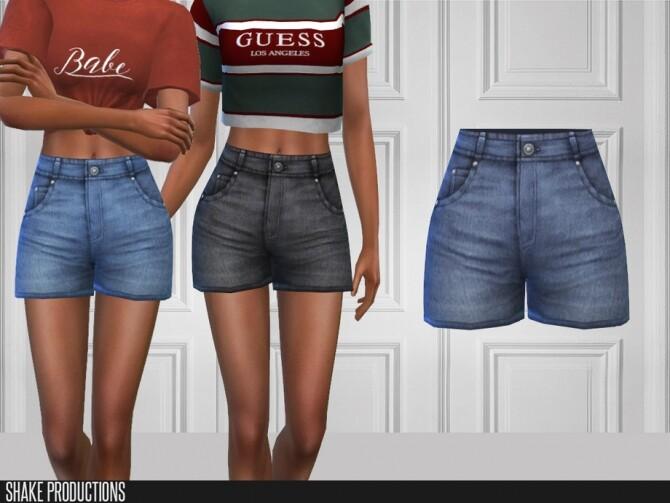 Sims 4 452 Denim Shorts by ShakeProductions at TSR