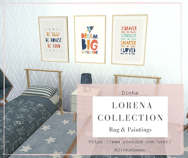 Lorena Collection: Rugs & Paintings at Dinha Gamer image 9023 Sims 4 Updates