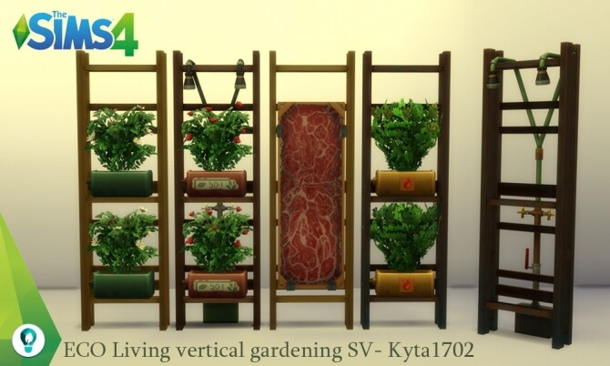 Sims 4 ECO Living industial vertical garden at Simmetje Sims
