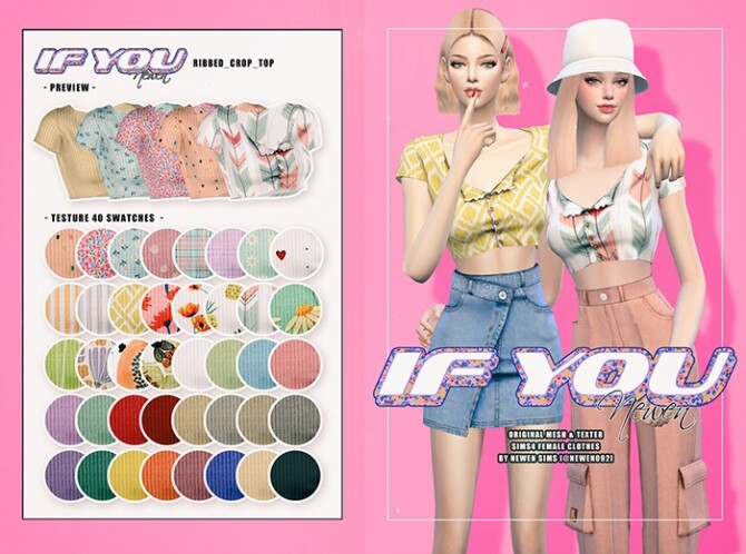 If You clothes set at NEWEN image 913 670x498 Sims 4 Updates